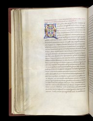 Illuminated Initial, In Caesar's 'Commentaries' With Additions f.57v